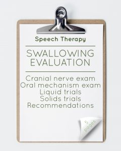 Speech Therapy Swallowing Evaluation