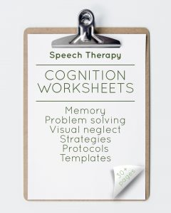 Speech Therapy Cognition Worksheets (30+ pages)